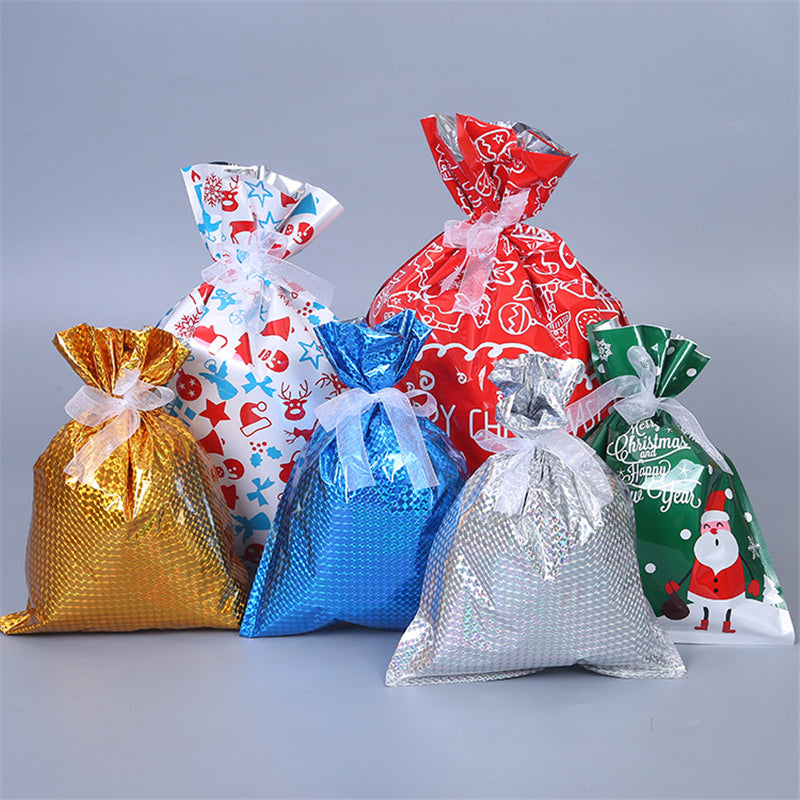 Christmas Holiday Gifts Wrapping Bags Sets 30pcs with Ribbon Ties