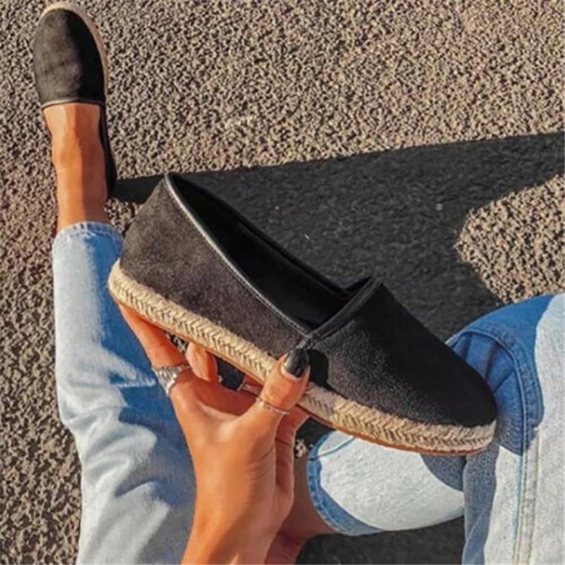 Women Casual Round Toe Low Heel Slip-On Flats