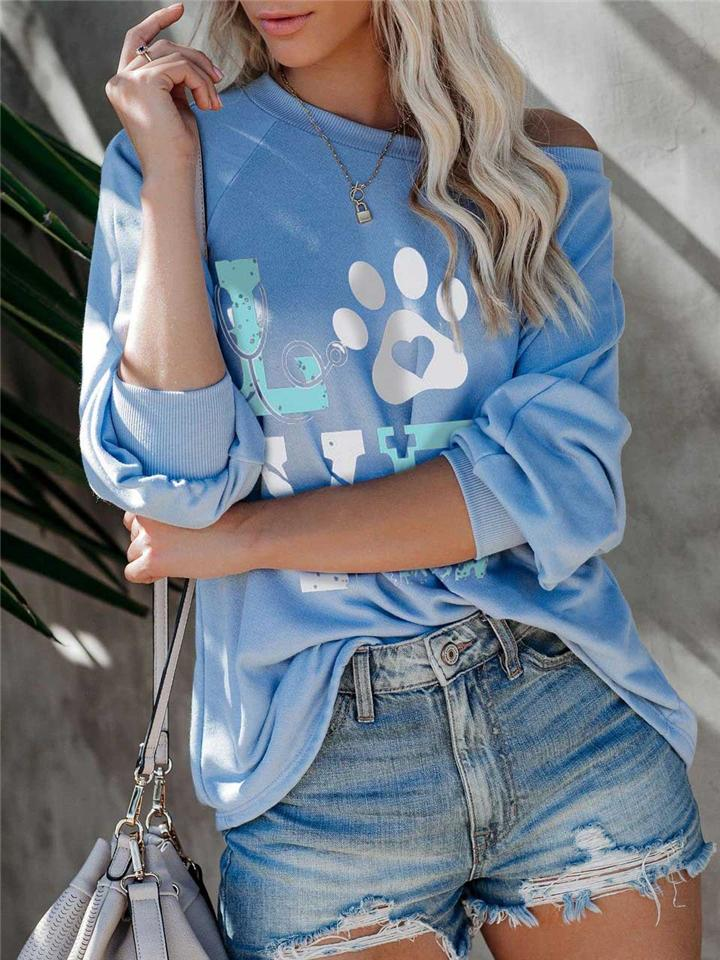 Ultra Comfortable Letter Print Long Sleeve Shirt
