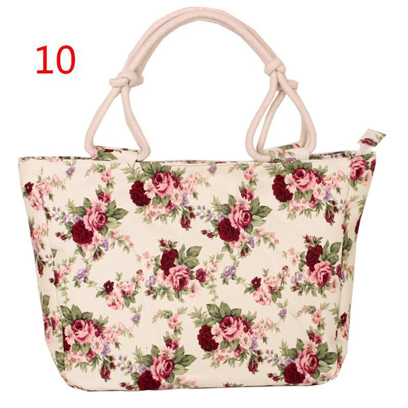 Casual Canvas Print Handbags