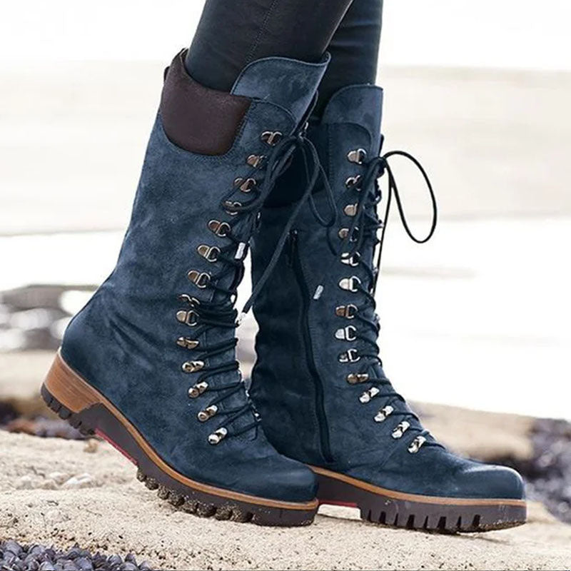 Comfortable Lace Up Side Zipper Non-Slip Durable High Boots