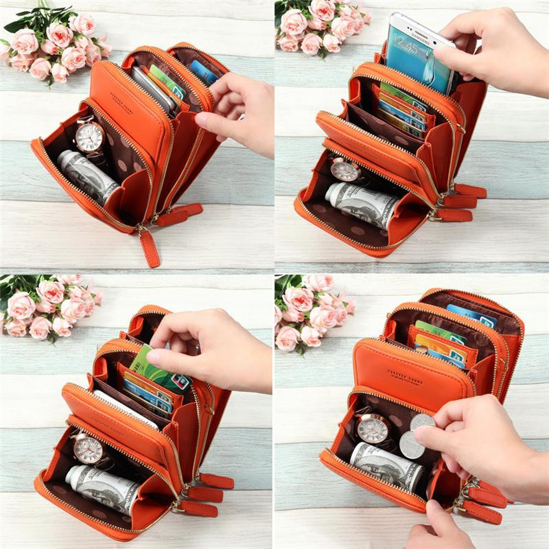 Women PU leather Clutch Bag Card Bag Phone Bag Crossbody Bags