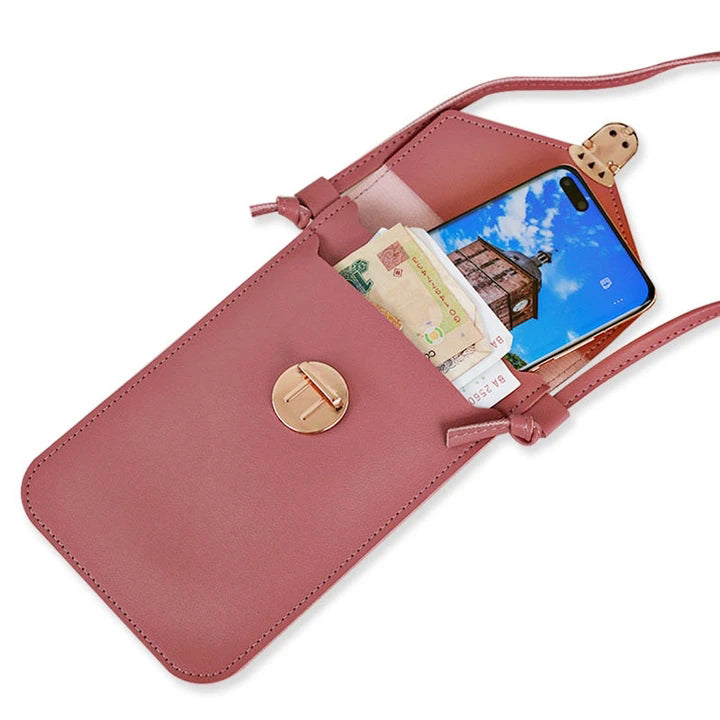 Clear Window Phone Holder Shoulder Crossbody Small Bag