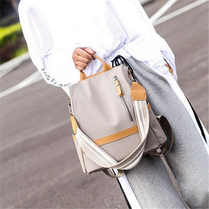 Women Nylon Anti-theft Travel Backpack Solid Leisure Multi-function Shoulder Bags