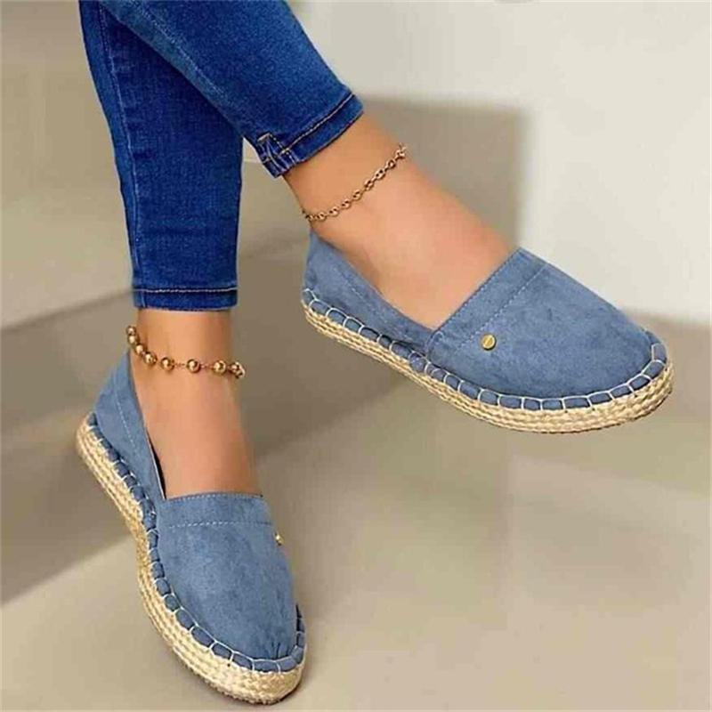 Casual Wear-Resistant Slip-On Flat Canvas Loafers Shoes