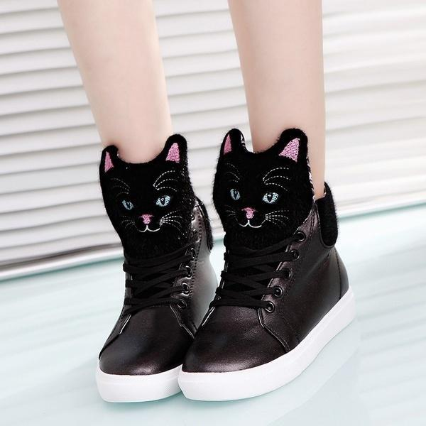 Super Cute Cat Flat Shoes For Women