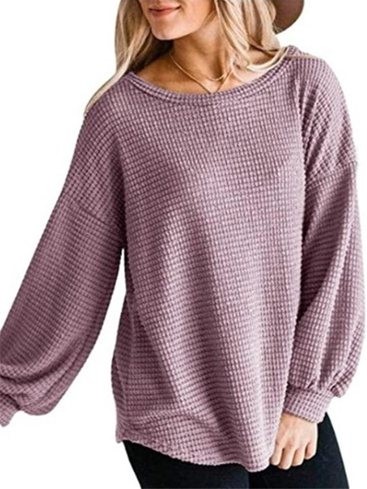 Women Casual Puff Long Sleeve Shirts