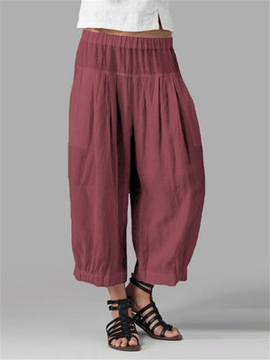 Loose Comfy Elastic Waist Pants For Women