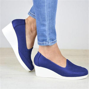 Women's Casual Round Wedge Heel Shoes