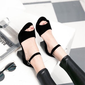 Sexy chunky Fish Mouth Sandals