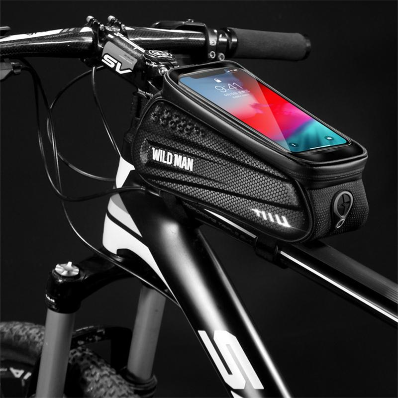 Bike Frame Bag with Mobile Phone Holder