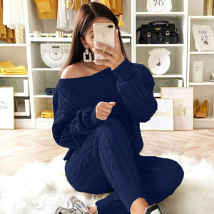 Stylish Two-Piece Fashion Warm Sweater Sets