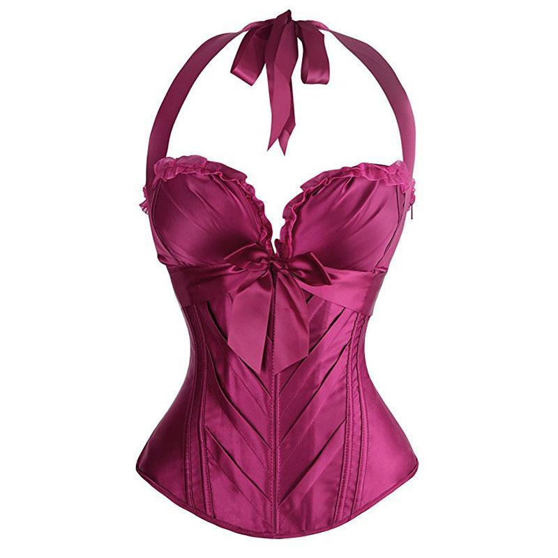 Sexy Solid Color Classical Halter Corset For Women