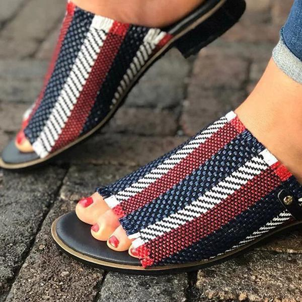 Casual Summer Open Toe Slip-On Slipper