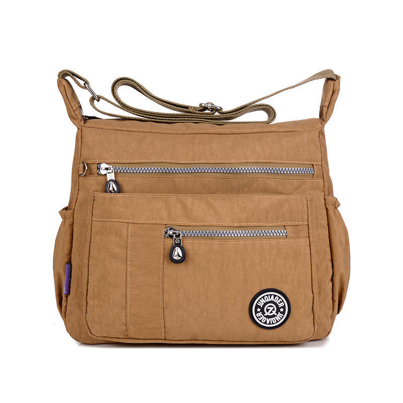 Casual Style Lightweight Waterproof Large Capacity Zipper Crossbody Bag