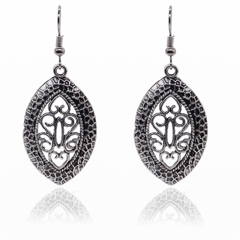 Simple Classical Alloy Rune Hollow Dangle Earrings