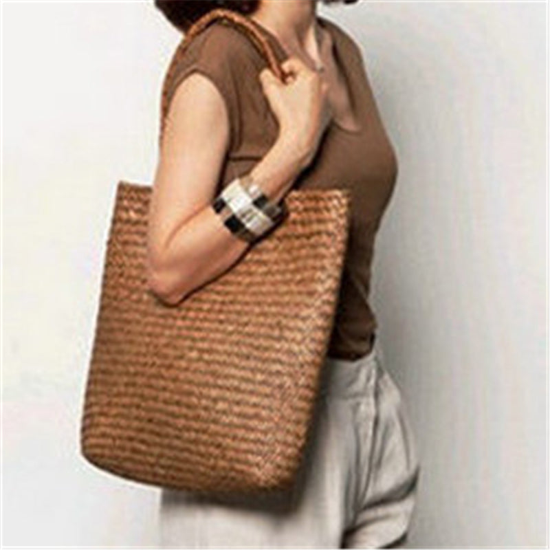 Summer Beach Hand-woven Straw Shoulder Bag
