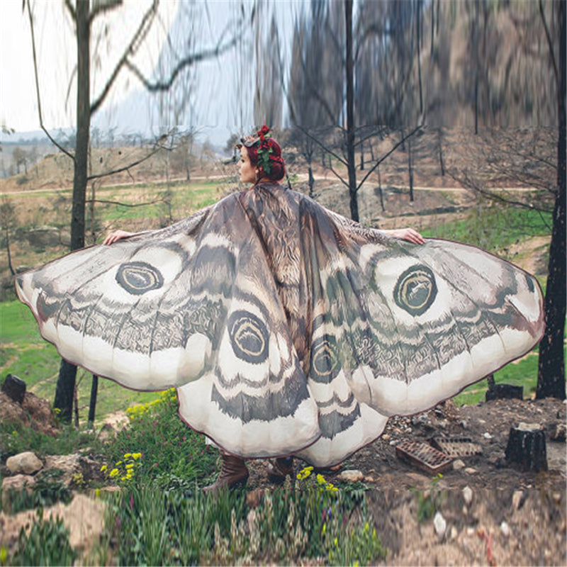 Women's Beautiful Butterfly Wings Mantle Cloak