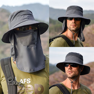 Cool Outdoor Sun Block Hats Water Proof Fishing Hats