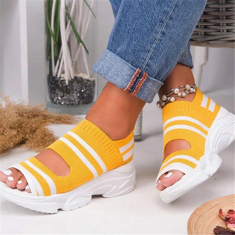 Women Breathable Comfy Slip-On Sports Sandal