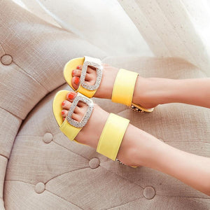 Summer Casual Fish Mouth Low Heel Women's Sandals Slippers