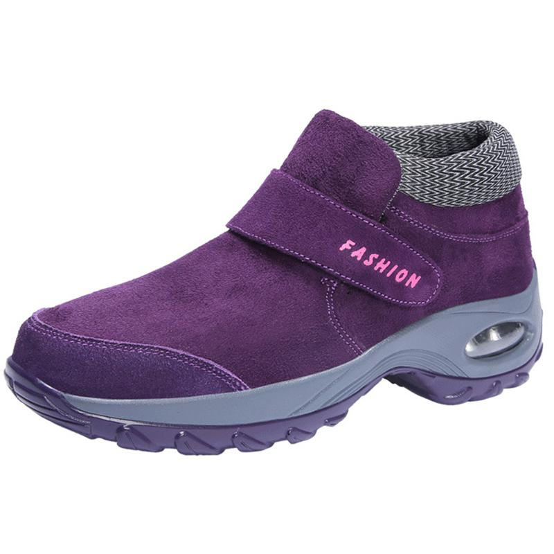 Sporty Warm Air Cushion Non-slip Platform Ankle Boots For Women