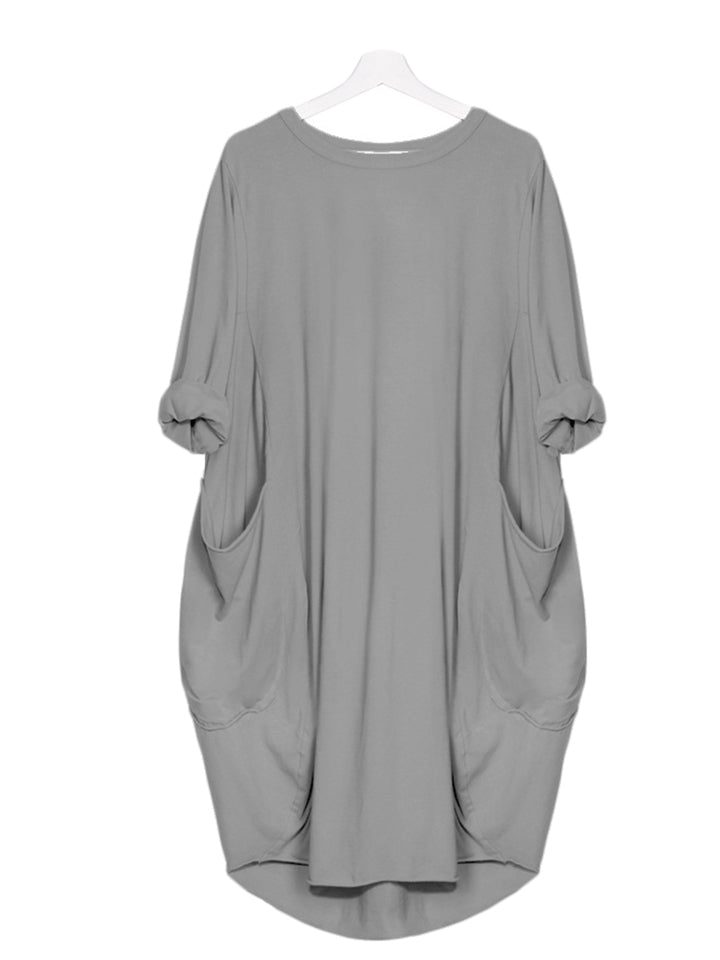 Women's Casual Loose Dress With Pocket