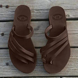 Women PU Casual Flip Flops Slippers
