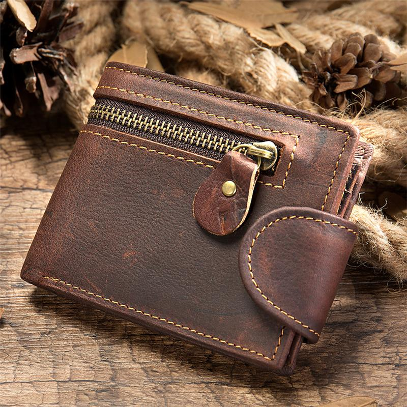 Men's Retro Casual Leather Bifold Wallet