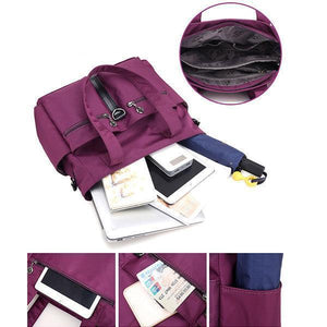 Nylon Waterproof Multi-pockets Handbag Crossbody Bags
