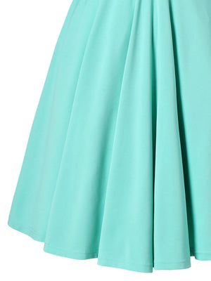 Light Green 1950s Swing Dress