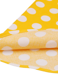 Yellow 1950s Polka Dot Swing Dress