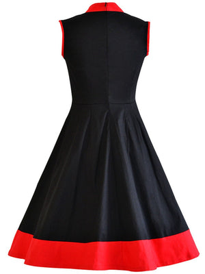 1950s Standing Collar Swing Dress