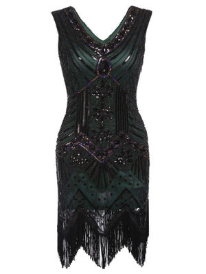 Plus Size 1920s Sequined Dress