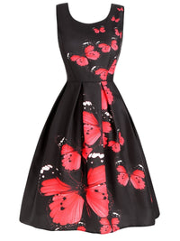 Black 1950s Butterfly Party Dress