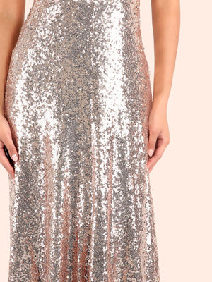 Pink 1920s Backless Sequin Dress