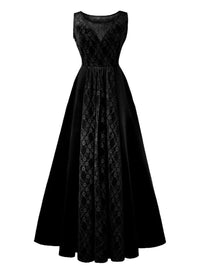 1950s Lace Plus Size Maxi Dress