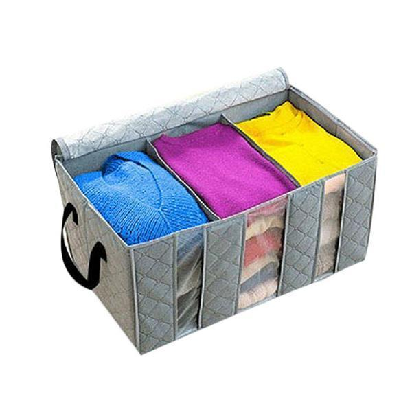 Bamboo Charcoal Storage Bag Closet Organizer Box 65L