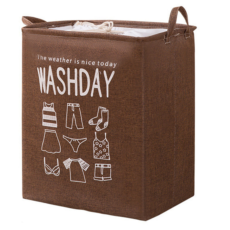 Large Capacity Waterproof Pull Handle Cotton Linen Storage Bag