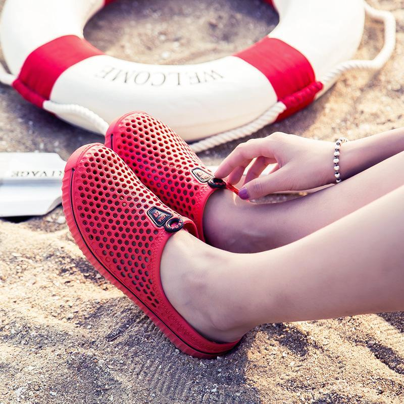 Hollow Out Slip On Flat Casual Beach Slippers