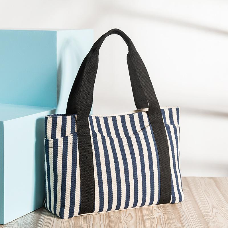 Women's Handbag Striped Canvas Bag