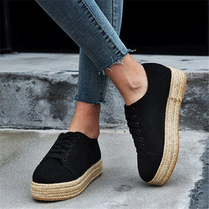 Women's Casual Lace Up Suede Shoes