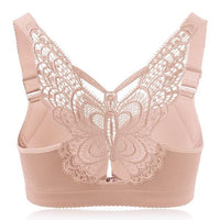 Beautiful Butterfly Back Wireless Front Closure Push Up Bras