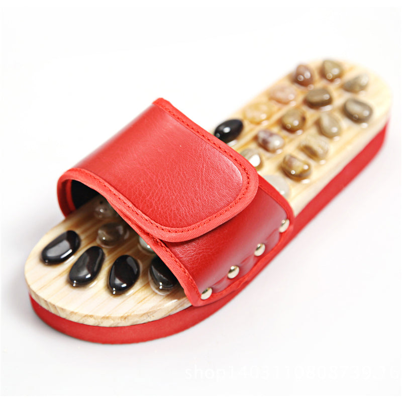 Unisex Non-Slip Pebble Massage Open-Toe Platform Slippers