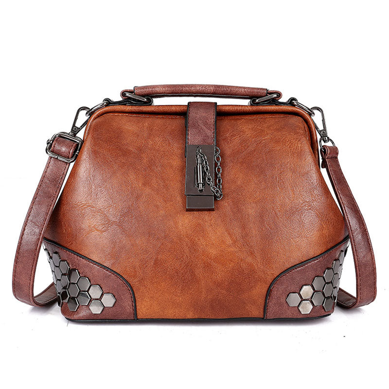 Women's Retro Vintage Buckle Lock Shoulder Bags