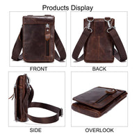 Men's Retro Genuine Leather Outdoor Waist Belt Bag