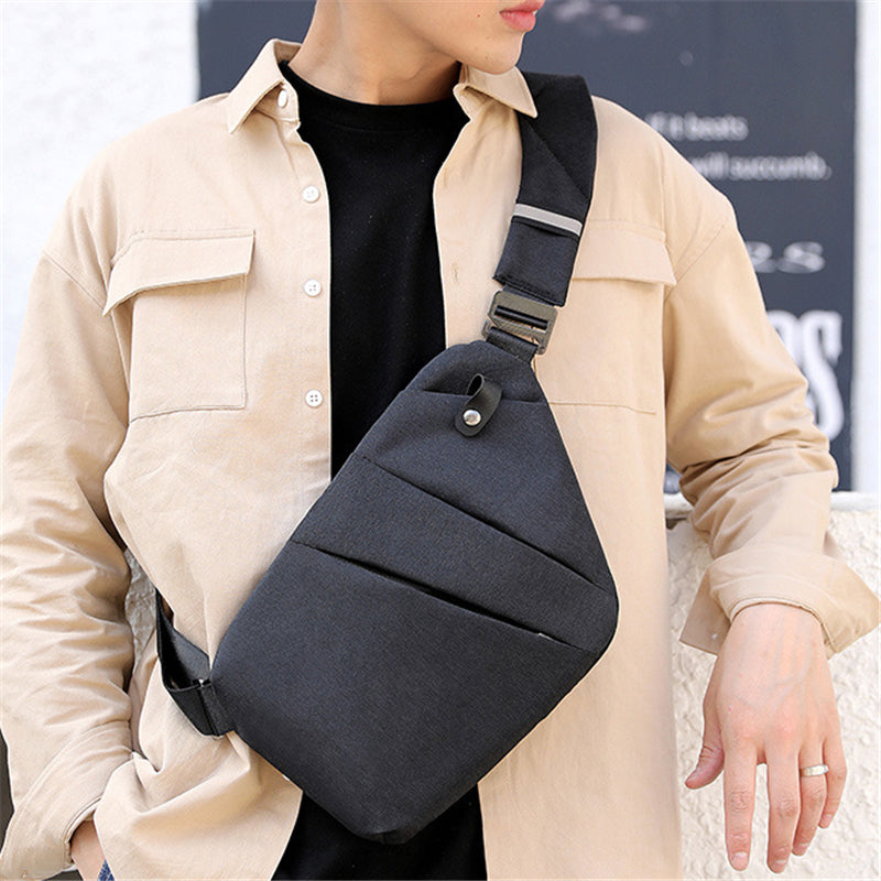 Unisex Solid Color Casual Crossbody Bags