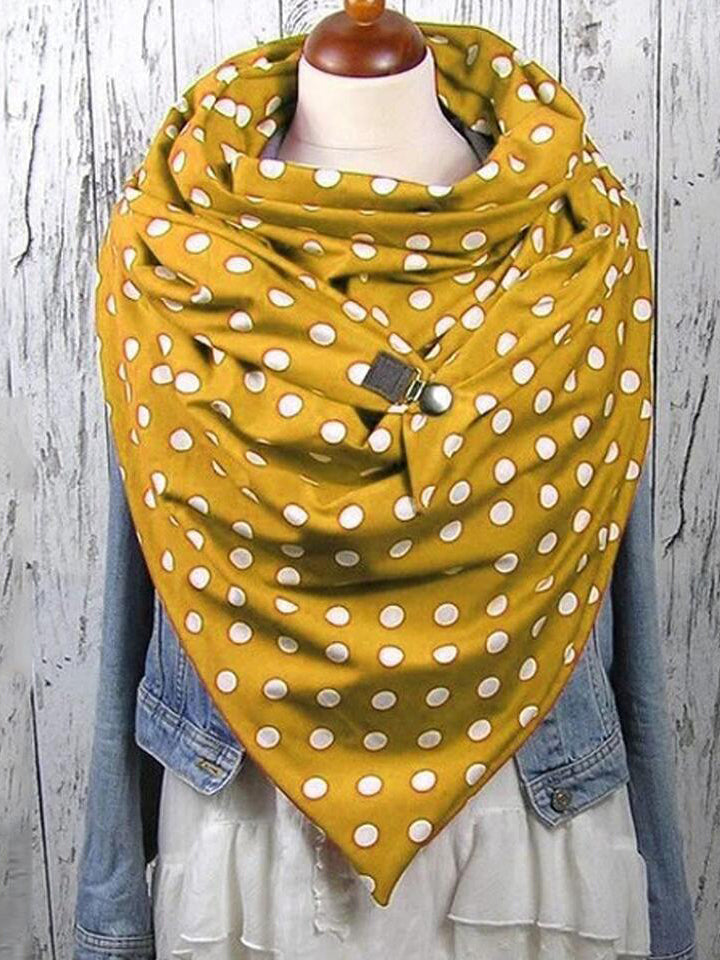 Stylish Comfortable Polka Dot Neck Warmer Triangle Scarves & Shawls