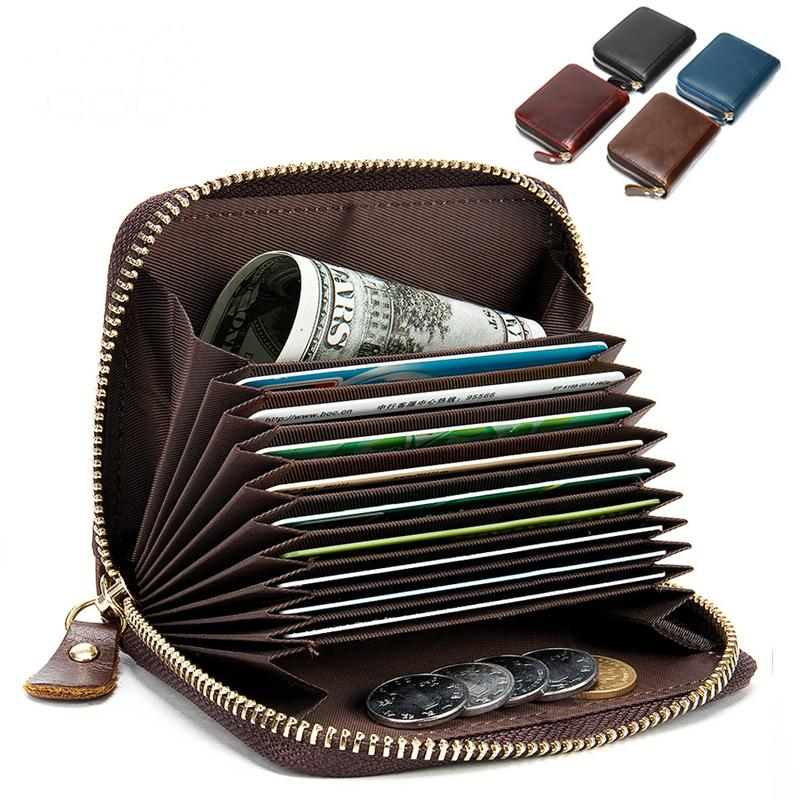 Men's Retro Durable Genuine Leather Mini Wallet