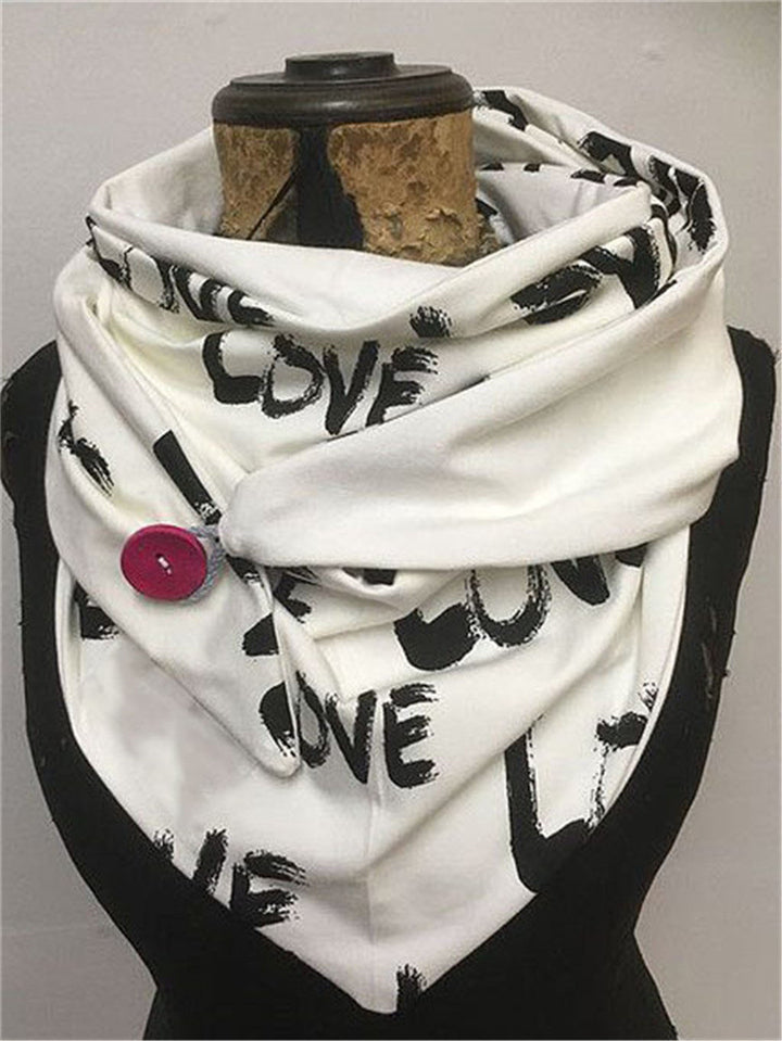 Extra Cozy Printed Neck Warmer Triangle Scarves & Shawls